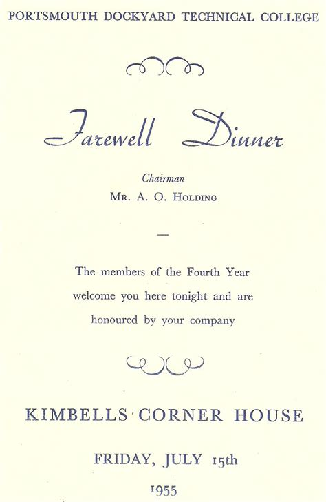 farewell lunch invitation email template farewell dinner 1955