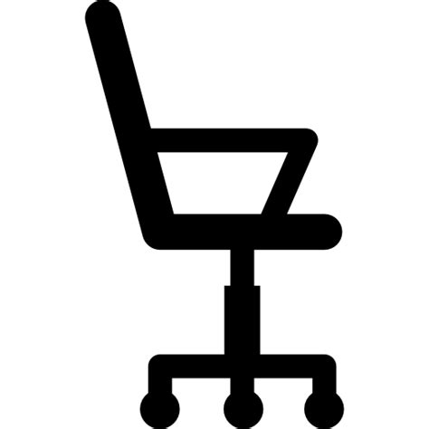 chair side view vector office wheels chair silhouette from side view free tools