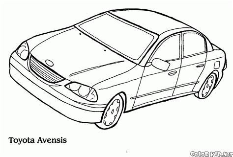 coloring pages toyota cars coloring page toyota avensis