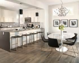 good What Is The Best Kitchen Flooring Material #1: Light-Grey-Laminate-Flooring-Ideas-for-Kitchen-With-Modern-White-Furniture-and-Crystal-Chandeliers-Suit-in-Laminate-Wood-Flooring-in-Kitchen.jpg