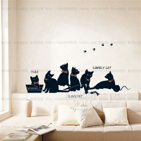 cat wallpaper room aliexpress com buy vinyl wall stickers wallpaper animal