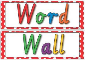 Word Wall Template by Word Wall Display K 3 Resources