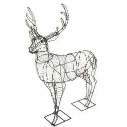 Topiary Wire Shapes - deer large stag mossed amp planted topiary frame