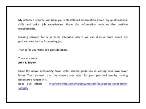 Reinsurance Accountant Cover Letter by Accounting Cover Letter Sle Pdf