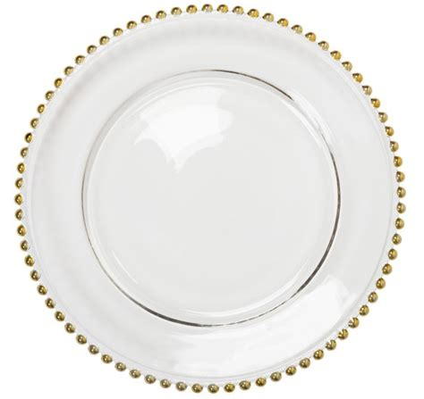 glass beaded plates gold beaded glass charger plate glass charger plate hire