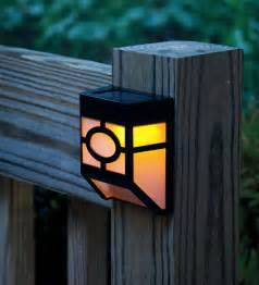 solar accent lighting mission style solar deck accent lights set of 4 solar
