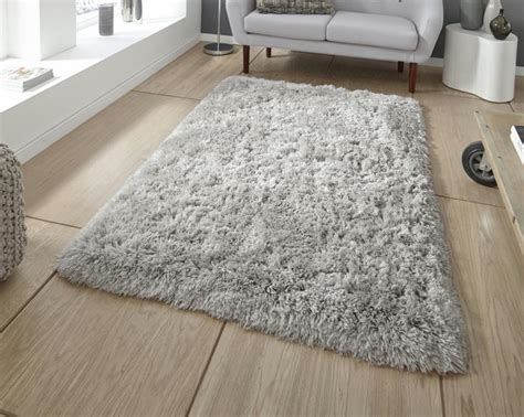 rugs uk shaggy rugs think rugs polar pl 95 grey shaggy rug 163 85