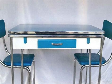 Retro Chrome Kitchen Table Atomic Decor Kitchens And Dinette Sets On
