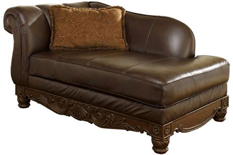 chaise lounge sofa ashley furniture ashley furniture north shore dark brown leather corner
