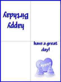 folding birthday card template happy blue birthday cards
