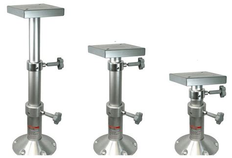 telescopic table bed pedestal mount boat marine