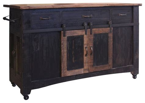 distressed black kitchen island shop houzz crafters and weavers greenview kitchen island