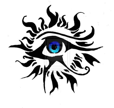 black art tattoo designs and eye of ra black tribal sun and horus eye
