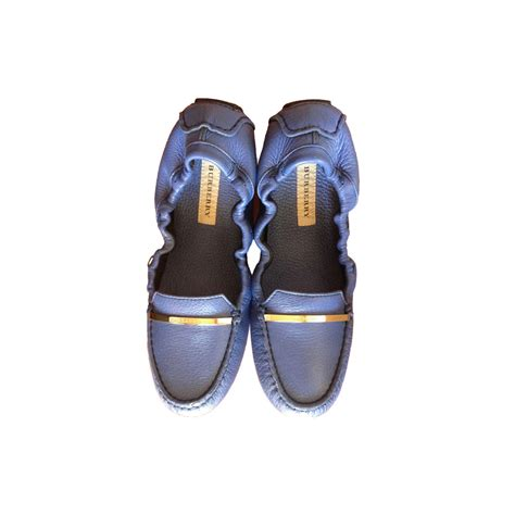 Flat Shoes Blue Ly Shop burberry light steel blue heritage grain popular flat car shoes modsie