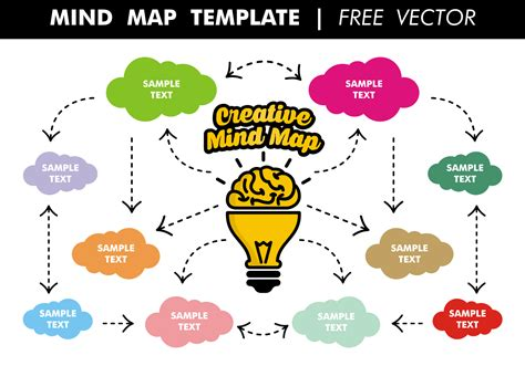 mind map template free vector free vector