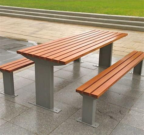 hardwood picnic bench burlington hardwood timber picnic table and bench set