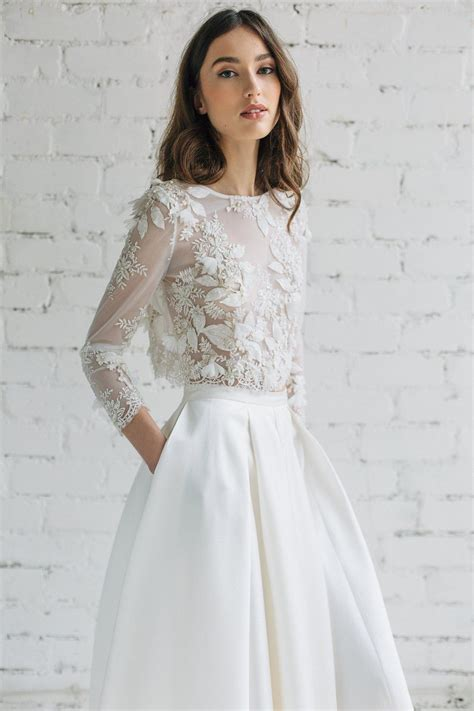 bridal lace top   wedding   Wedding dresses, Lace weddings