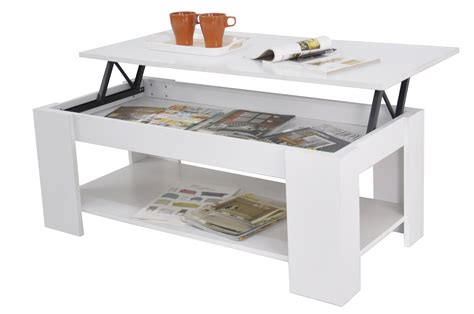 Lift Up Top Coffee Table New Lift Up Top Coffee Table With Storage Shelf White Ebay