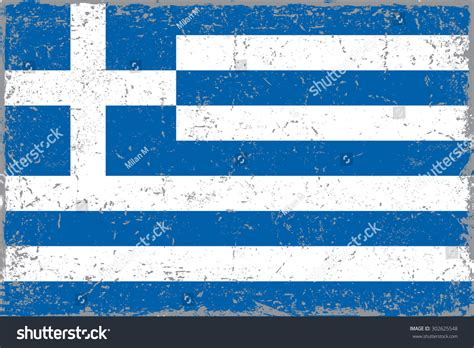 grunge greece flaggreek flag grunge texturevector stock