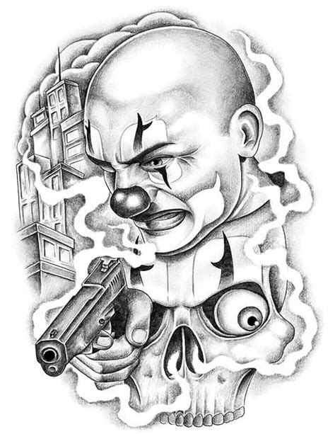 coloring book omerta chicano clown design