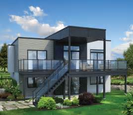 home plans for sloping lots 2 bed modern house plan for sloping lot 80780pm