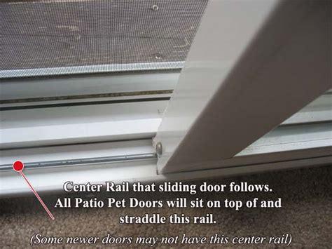 Pet Doors for Sliding Doors   Bottom Track Width Measurement