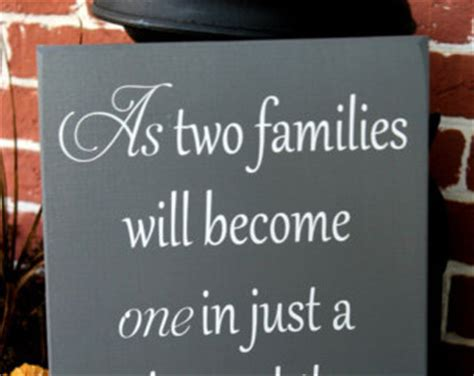 Wedding Quotes About Family And Friends by Two Families Etsy