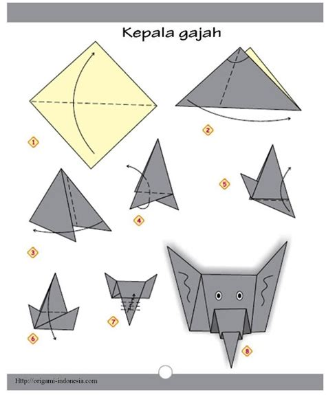 easy origami elephant discover and save creative ideas