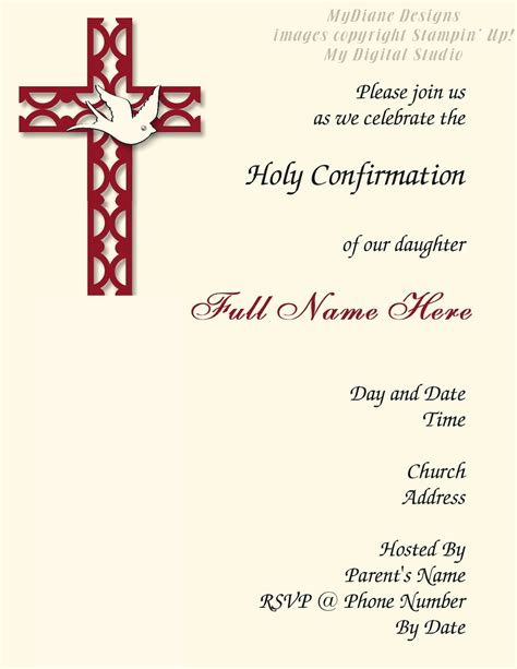 confirmation invitation cards template confirmation invitation template