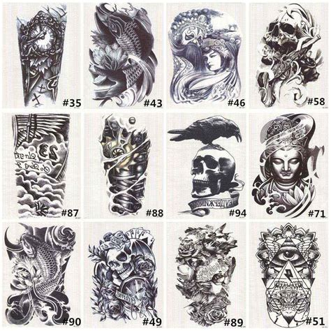 temporary tattoos for men black skull shoulder tattoos temporary tatto