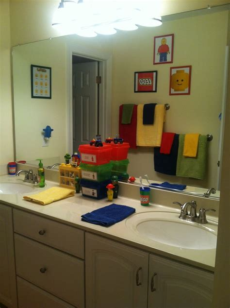 guys bathroom decor 17 best images about diy project 4 lego themed bathroom