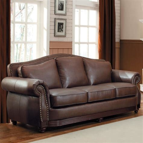 tribecca home myles traditional chocolate bonded leather