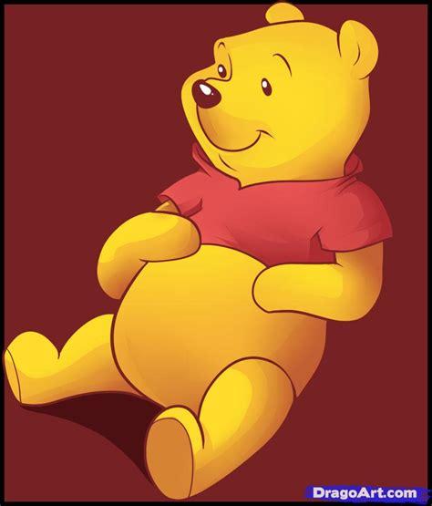 draw pooh bear step step disney characters cartoons draw cartoon characters free
