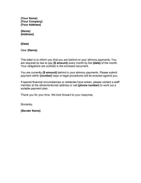 Demand Letter Child Support Demand Alimony Payment Letter Template
