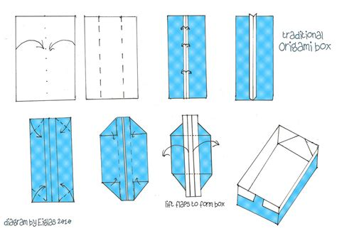 Origami Rectangle - origami box diagram inspiring bridal shower ideas
