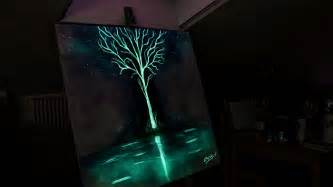 glow in the light this artist paints with light and it looks dazzling