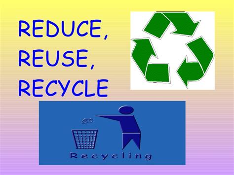 recycling powerpoint recycle presentation