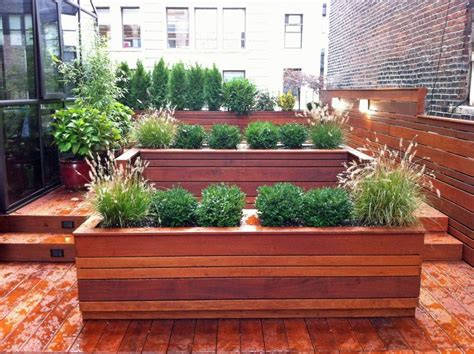 Roof Planters by Freda Landscape Design Firms In New York City New York