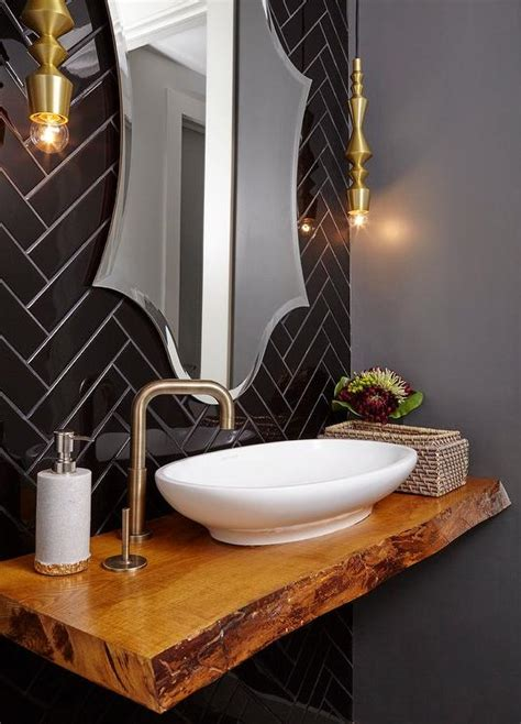 powder room sink steel and black granite washstand with wall mount sink