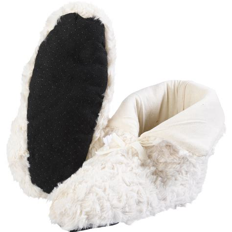 faux fur slipper boots slenderella faux fur slipper boots loungewear womens