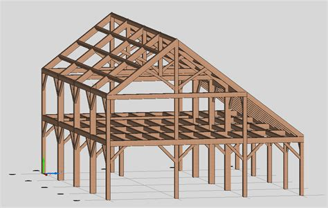 house frame timber frame engineer douglas fir saltbox