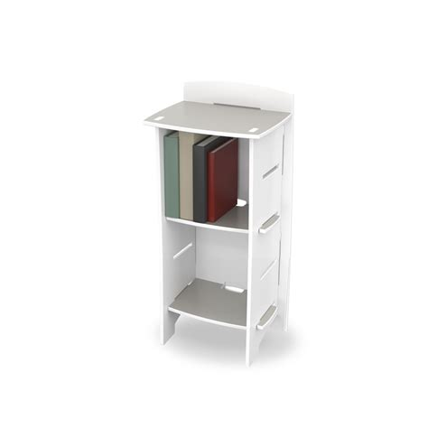 easy fit small bookcase in white skate design