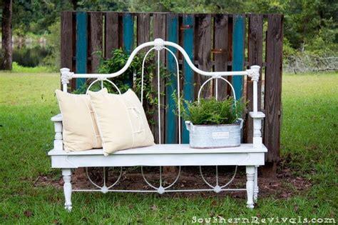 bed to bench journal diy repurposed metal headboard bench diy headboards