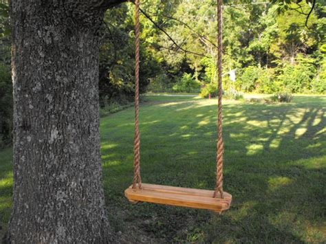 rope swinging rope swing tree swing recycled reclaimed rustic by