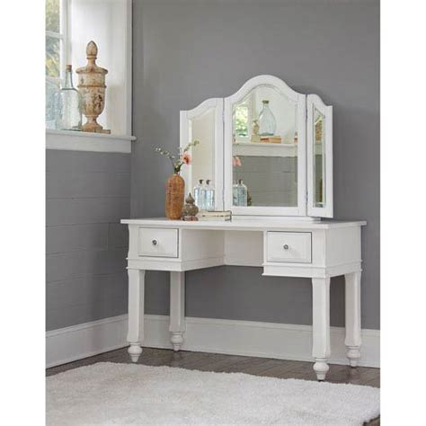 white desk mirror outdoor