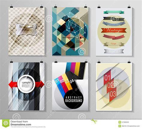 poster design kit set of poster flyer brochure design templates stock