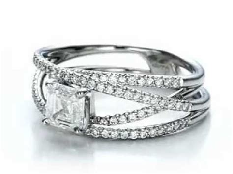 custom pave multi band engagement ring