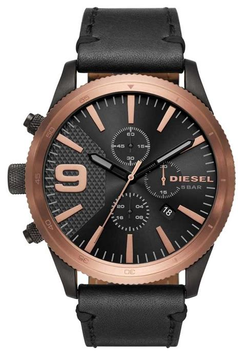 Diesel Move Black Rosegold diesel gents rasp chrono gold black dz4445