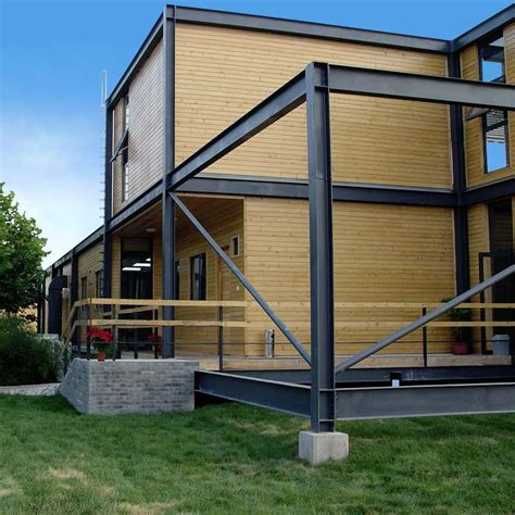 prefab house original design wood wooden steel structure