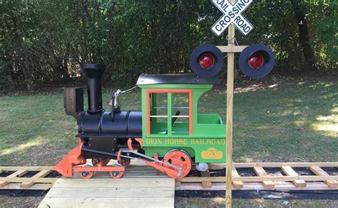 backyard railroad locomotives this grandpa built a backyard railroad for his granddaughter